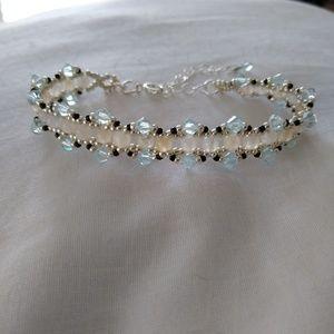 Swarovski & with natural stone bracelet